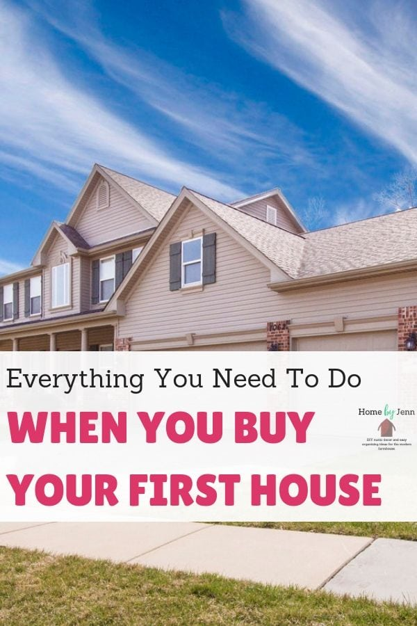 What To Do When You A New House