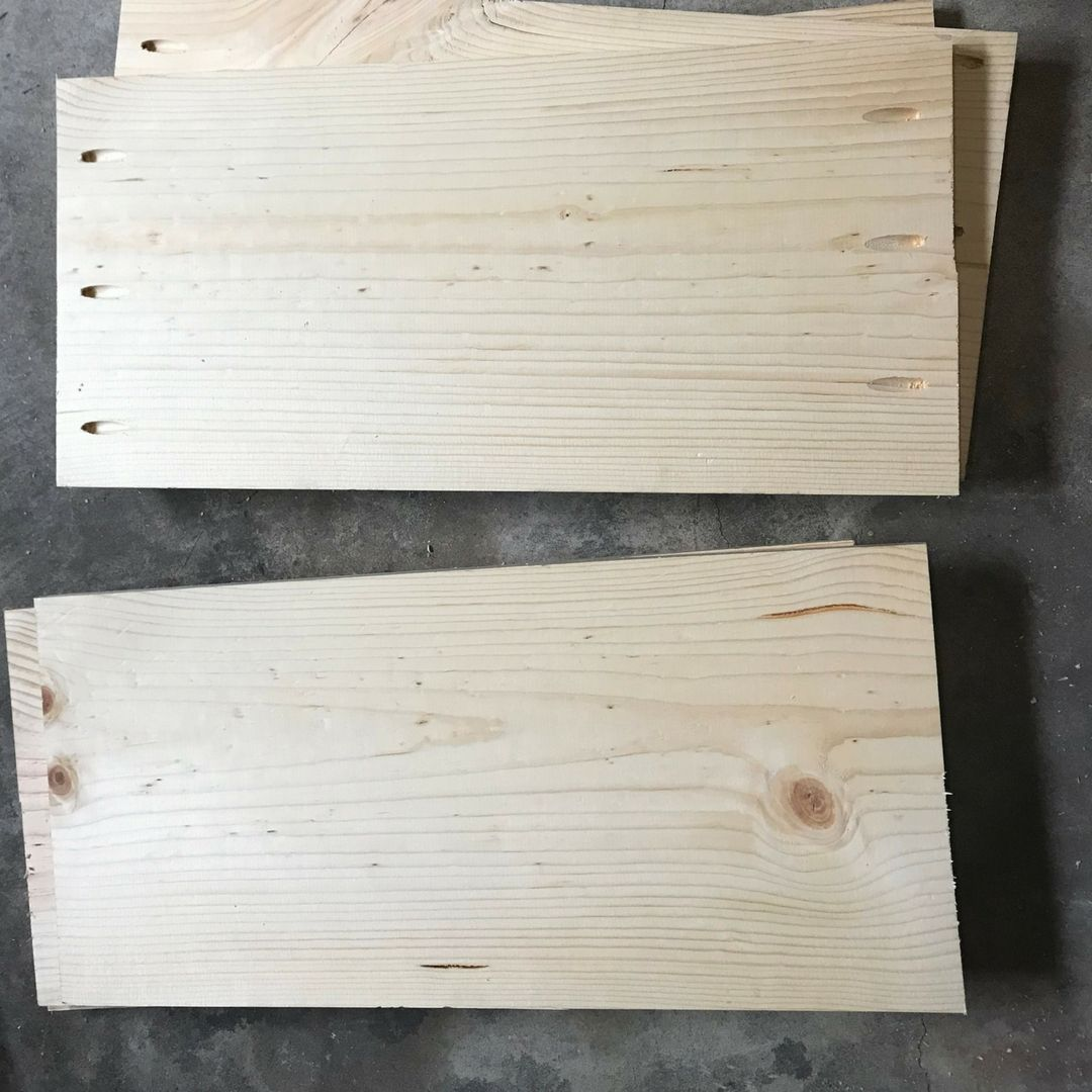cut the wood for diy wall mounted cabinet