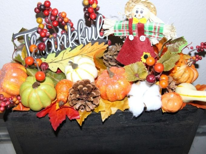 homemade fall centerpiece