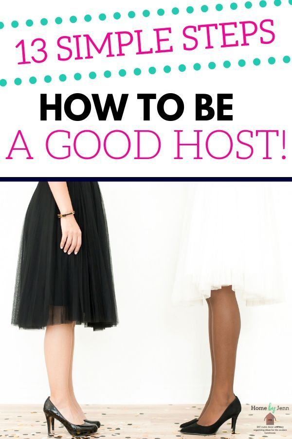 how to be a good host