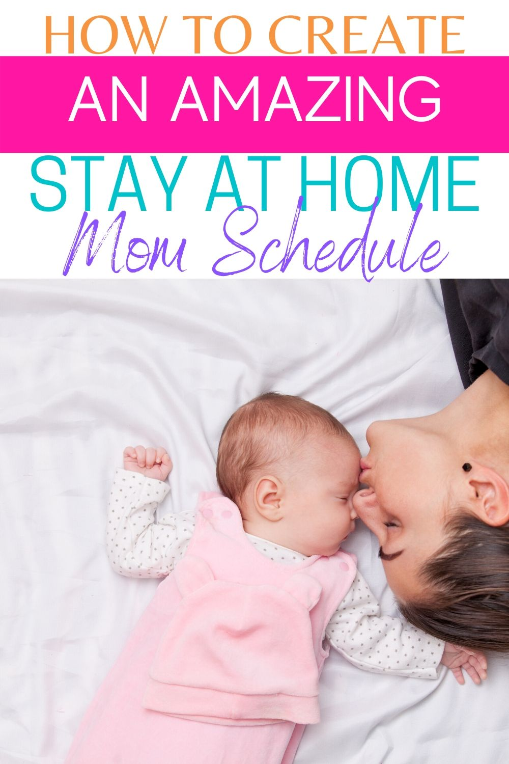 I'm going to share how you can create an amazing stay at home mom schedule that you can keep up with. So you can feel like you are winning every day. #momschedule #schedule #howto #organize #routine via @homebyjenn