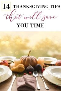 time saving tips for Thanksgiving