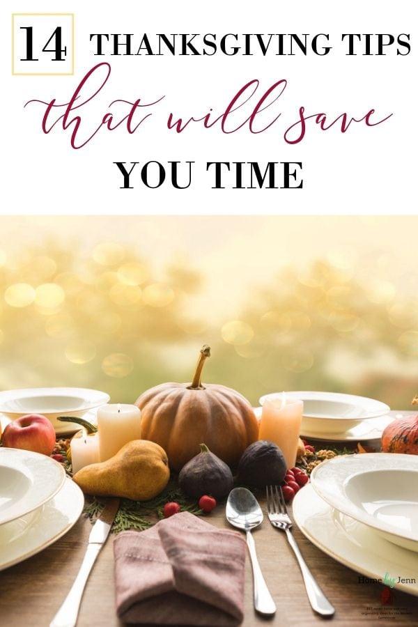time saving tips for Thanksgiving