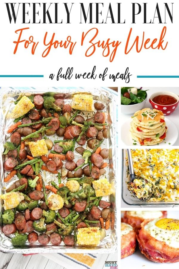 Creating a weekly meal plan can be pretty tricky, especially when you have so many people to feed! Let me share ideas to help get you started and recipes. #mealplan #busyweek #howto #gettingstarted #recipes #healthy #easy #weeklymealplan