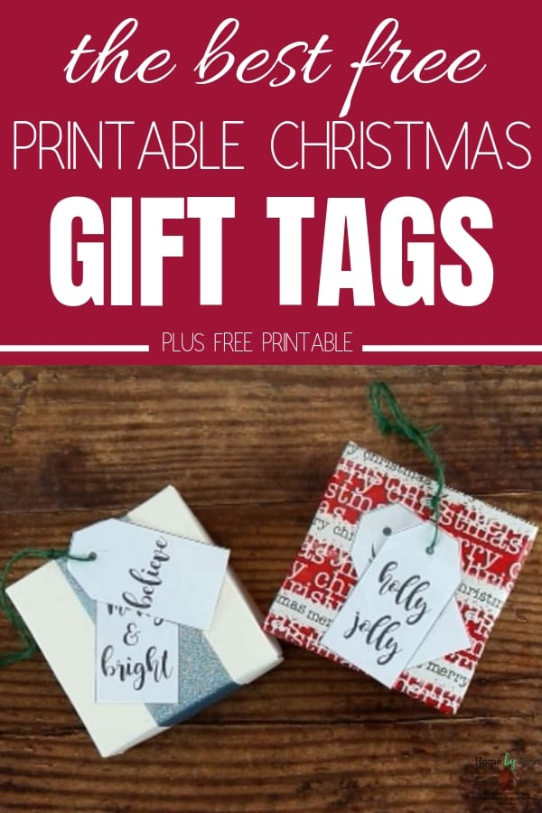 Having printable Christmas gift tags to use to complete your Christmas gift wrapping will save you so much time an money this holiday season.  Here are the best free printable Christmas gift tags #Christmasgifttags #free #printable via @homebyjenn
