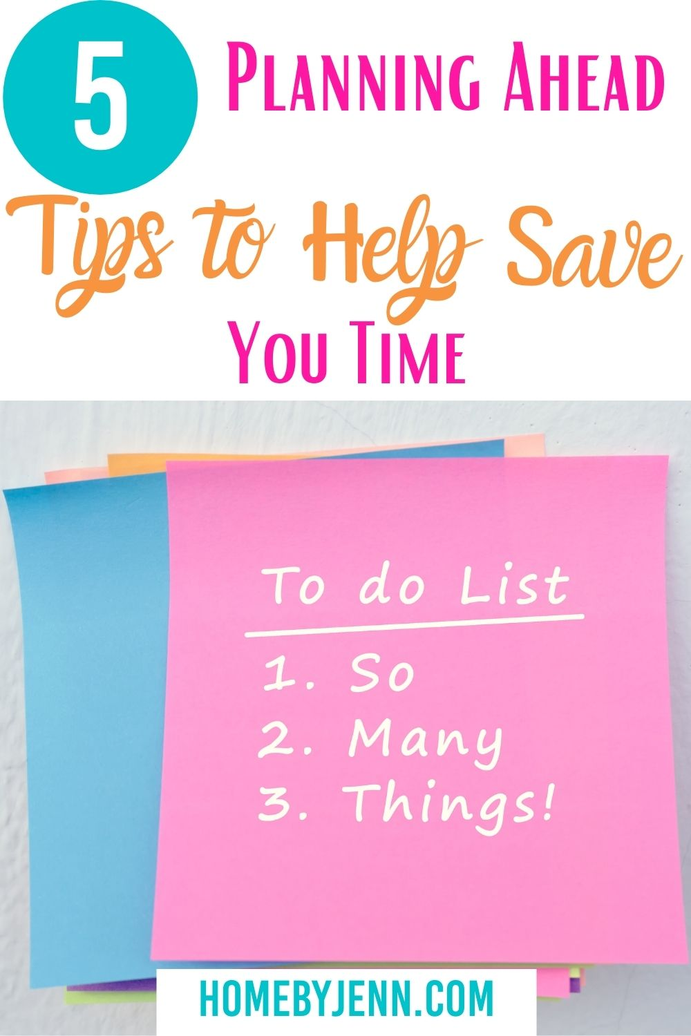 When you plan out what needs to be done in advance you know exactly what needs to be done when. Learn tips on how to plan ahead and stay on track. #planning #gettingorganized #organizer #mealplan #howto #saveyourday via @homebyjenn