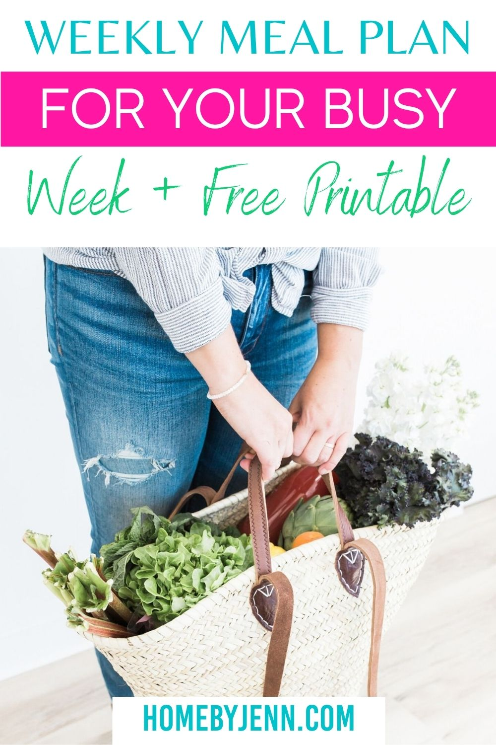 Creating a weekly meal plan can be pretty tricky, especially when you have so many people to feed! Let me share ideas to help get you started and recipes. #mealplan #busyweek #howto #gettingstarted #recipes #healthy #easy #weeklymealplan via @homebyjenn