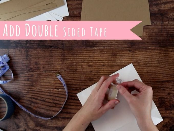 assemble diy gift box with double sided tape