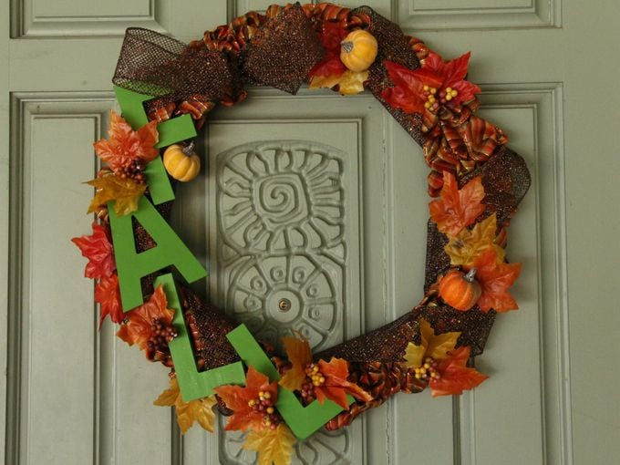 diy fall ribbon wreath