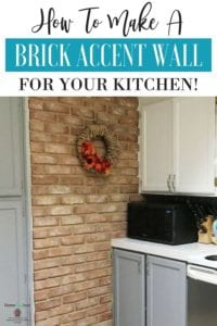 faux brick accent wall