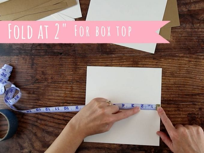 fold cardstock for diy gift boxes