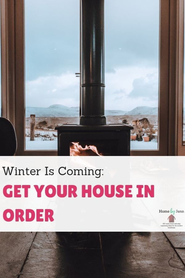 Winter Is Coming: Get Your House In Order