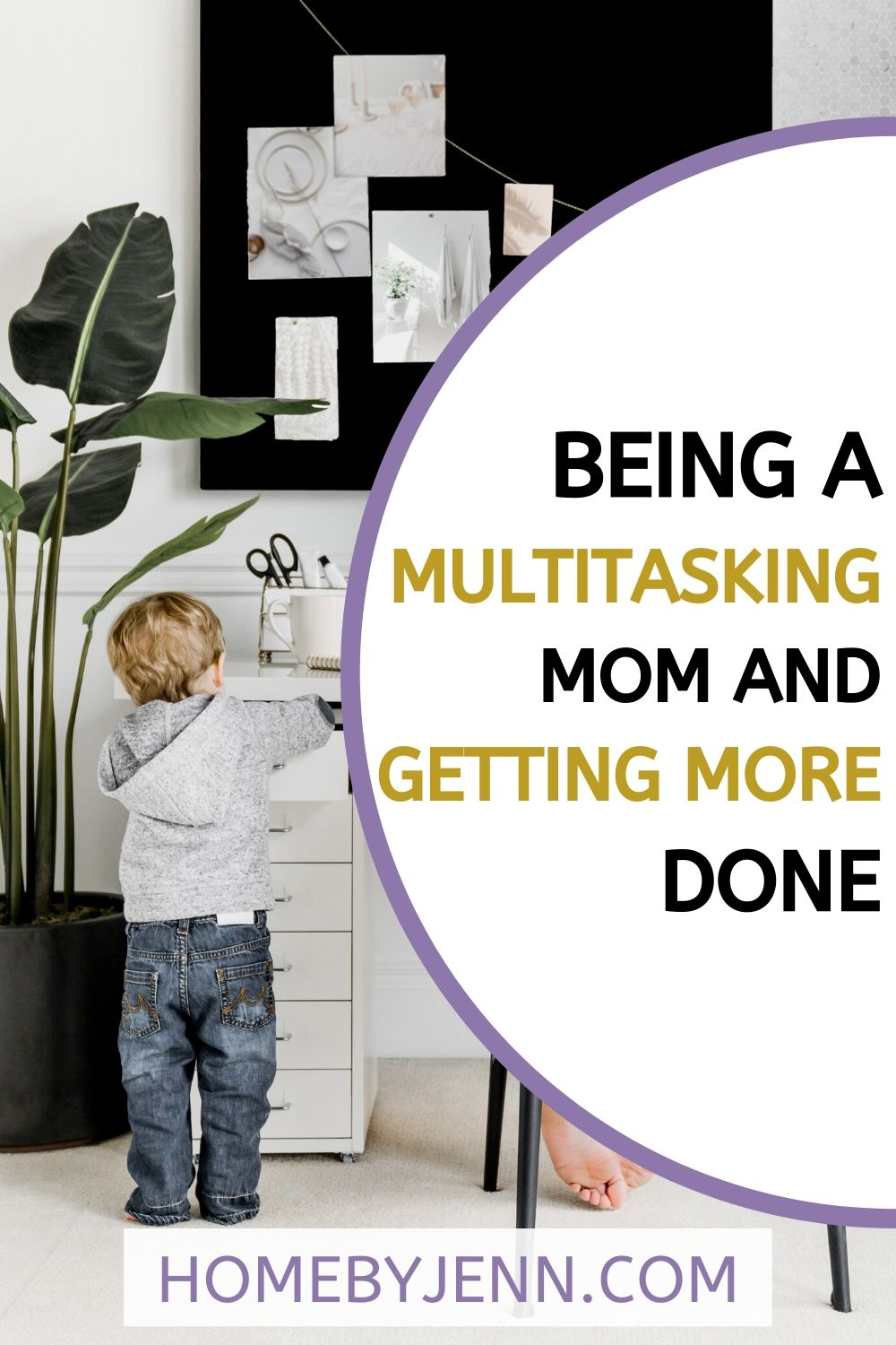 I'm going to share 5 ways you can be a multitasking mom without feeling like you are cutting corners.  You'll get more done and be happy that you did. #multitaskingmom #organized #stayathomemom via @homebyjenn