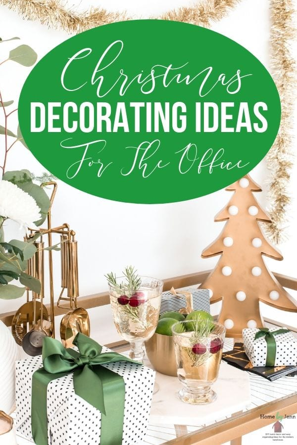 Decorating for Christmas isn't just for the home.  Here are some Christmas decorating ideas for the office you can enjoy. #OfficeDecoratingforChristmas #ChristmasDecoratingIdeasForTheOffice #ChristmasAtTheOffice