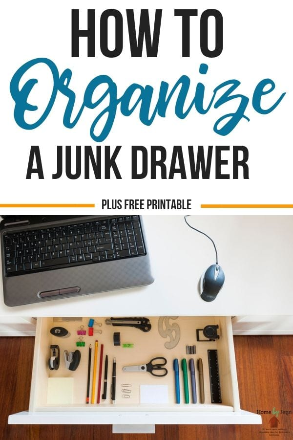 Learning how to organize a junk drawer will make you feel accomplished. I will teach you the steps to take to organize your junk drawer with ease. #junkdrawerorganizing #declutter #tacklingyourhome