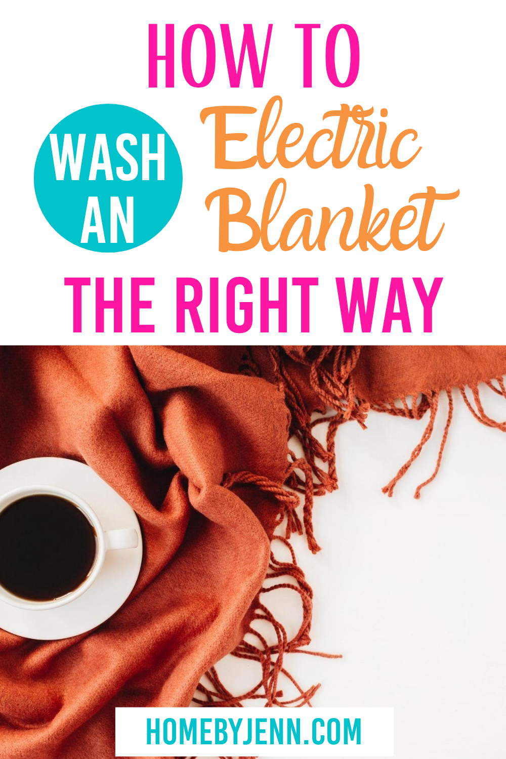 Cleaning an electric blanket is tricky. Here you'll learn exactly how to clean an electric blanket to make sure all of your blankets stay fresh and clean. #electricblanket #howtocleananelectricblanket #blanketcare via @homebyjenn
