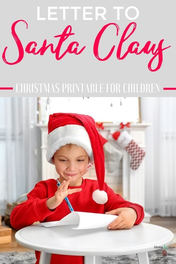 Make sending a letter to Santa that more special with a free Christmas Printable Letter To Santa. Create a tradition each year as your child grows. #lettertosanta #printableforsantaletter #santaletter via @homebyjenn