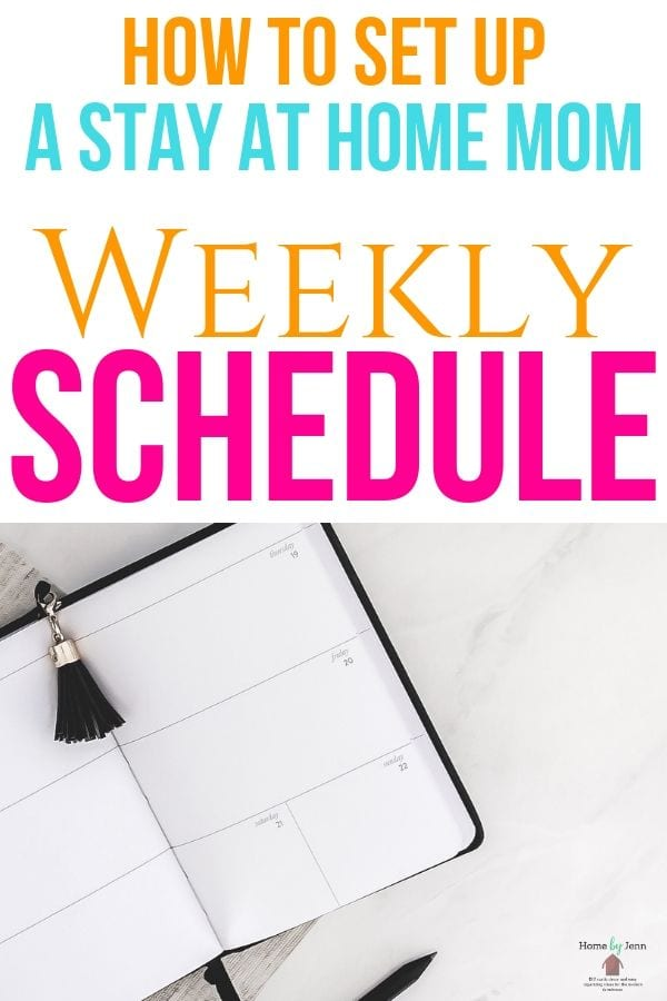 Mom Weekly Schedule