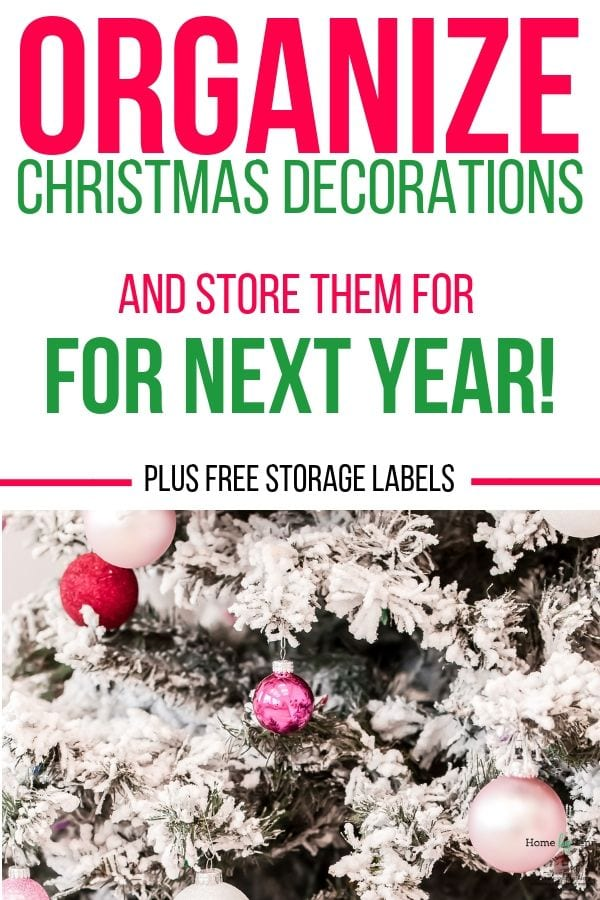 Organize Christmas decorations