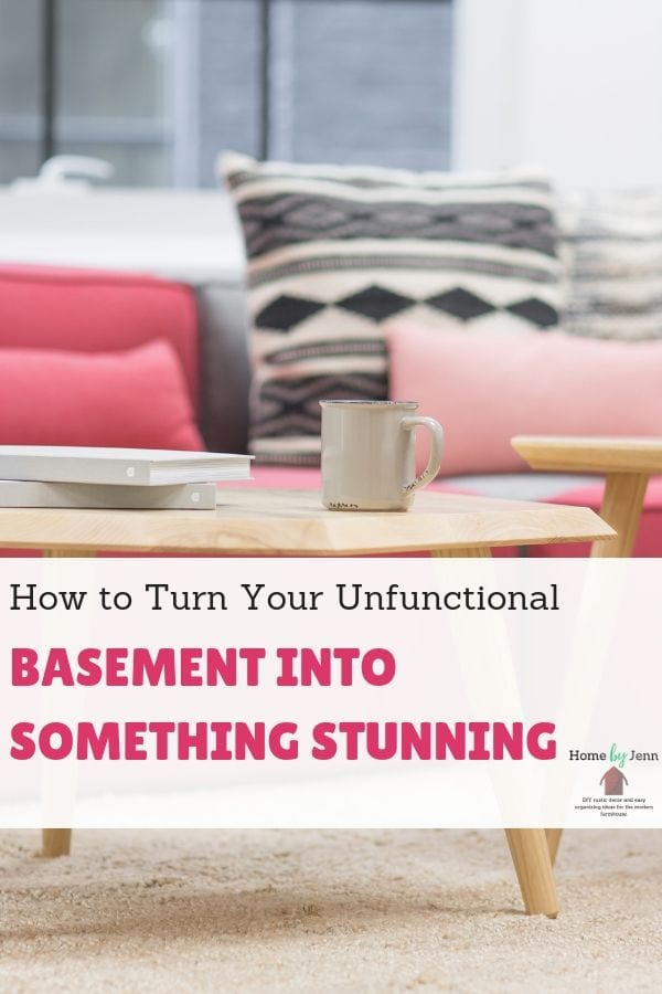 How to Turn Your Unfunctional Basement Into Something Stunning via @homebyjenn