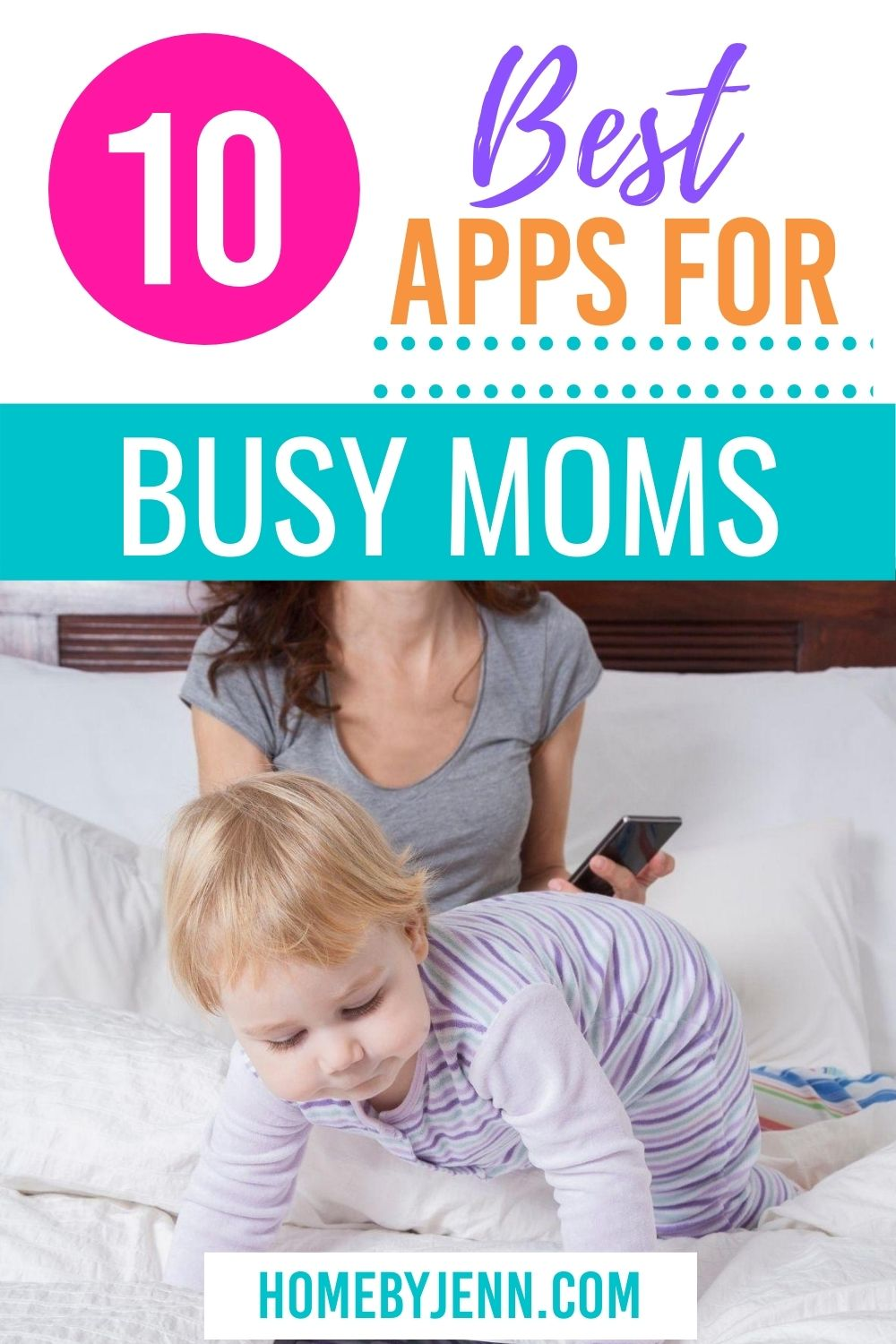Save time and organize your life with apps. Find out the best apps for busy moms that you can start using today to make your life easier. #bestappsforbusymoms #appsformoms #topappsformoms #iphone #iphoneapps #androidapps #busymom #SAHM #timesavingtips #momapps via @homebyjenn