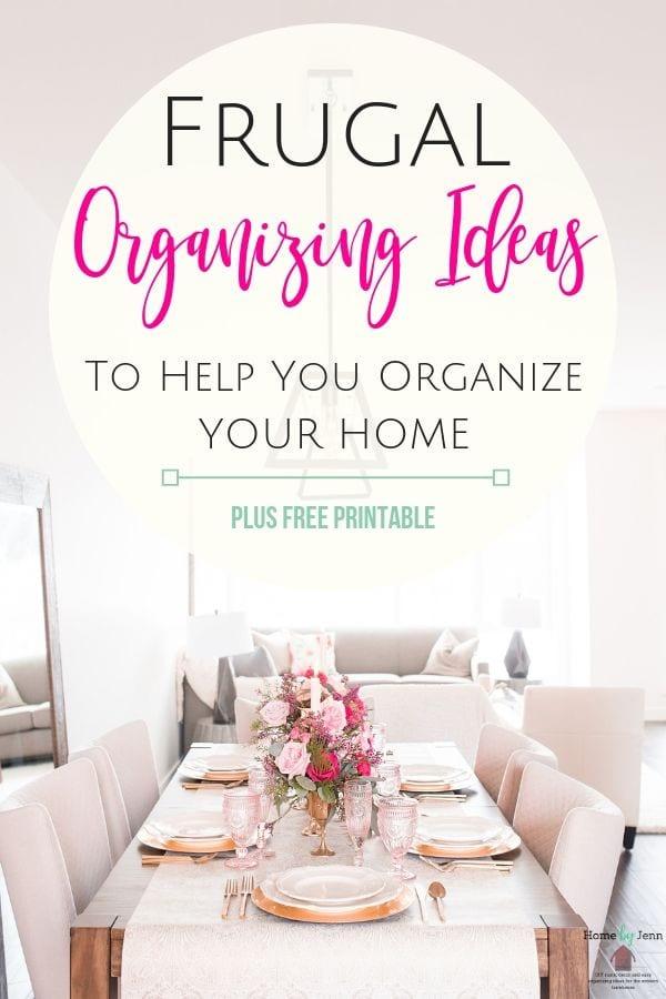 frugal organizing ideas