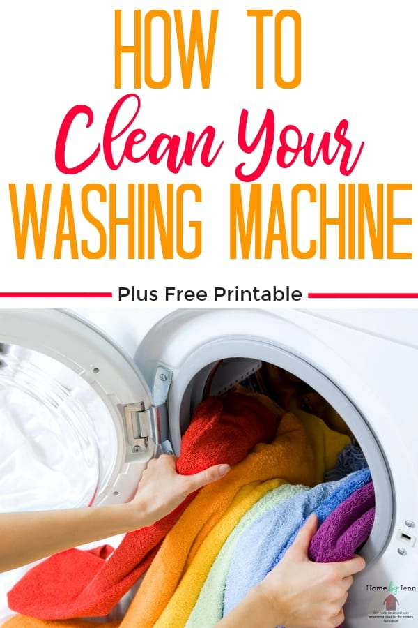 Cleaning your washing machine is important to keep your washing machine smelling fresh and guaranteeing your clothes coming out clean.  Learn how to clean a washing machine. #howtocleanwashingmachine #howtocleanyourwashingmachine #deepcleaninghome via @homebyjenn