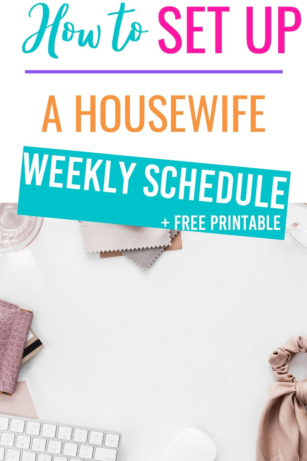 Having a housewife weekly schedule will keep you organized and allow you to get more done.  Learn how to set up a weekly schedule of a stay at home mom. #housewifeweeklyschedule #cleaninghome #weeklycleaningschedule via @homebyjenn