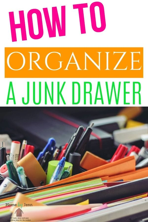 organize a junk drawer