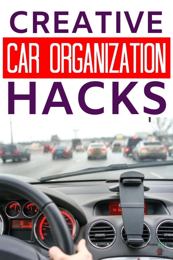 These car organization hacks are perfect for any vehicle and lifestyle! The cleaner and more decluttered you can keep your car, the better! Try these simple car cleaning tips with ease! #carorganizationhacks #cleaninghacks #car #vehicleorganization #carcleaning #declutter