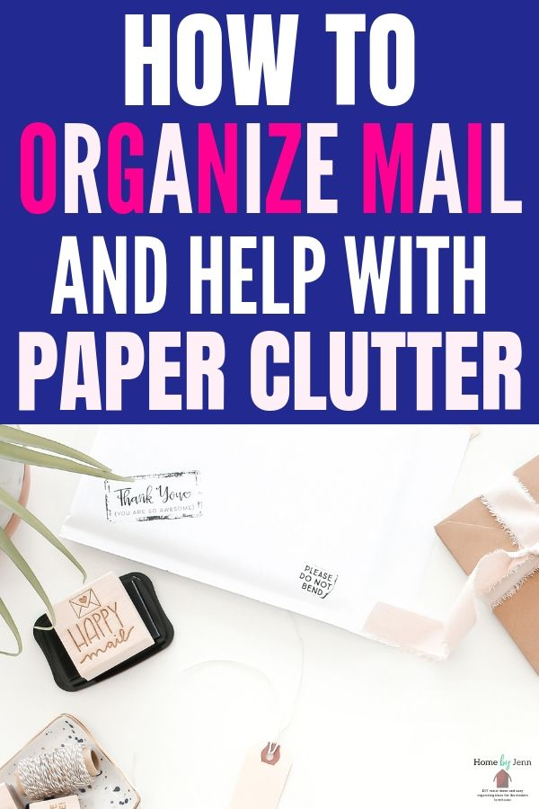 how to organize mail