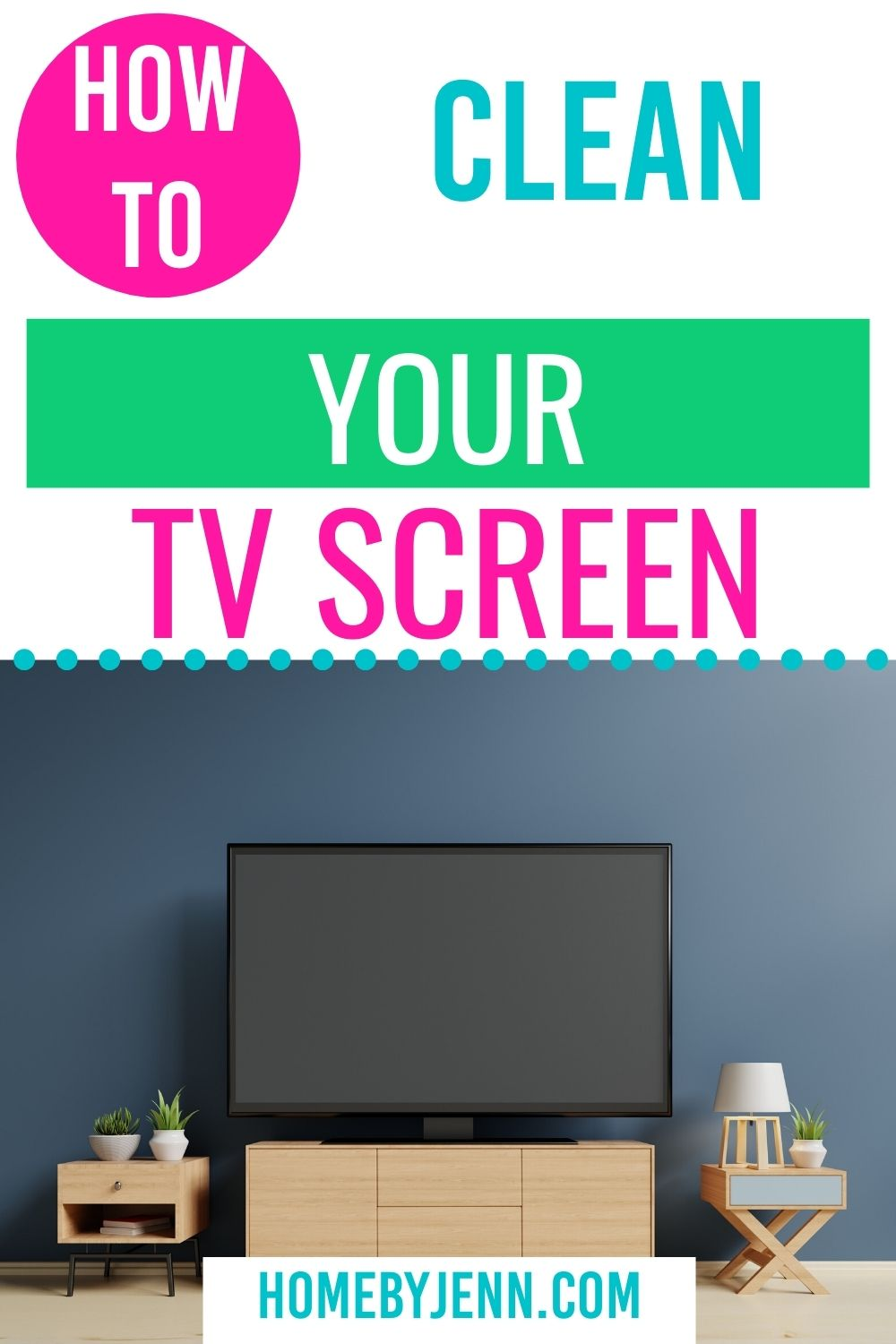Learn how to clean your TV screen the right way. These tv cleaning tips will keep your tv looking new and in great shape. #cleanhome #cleanaTVscreen #cleaningtips #cleaningtipsandtricks #cleaninghacks via @homebyjenn