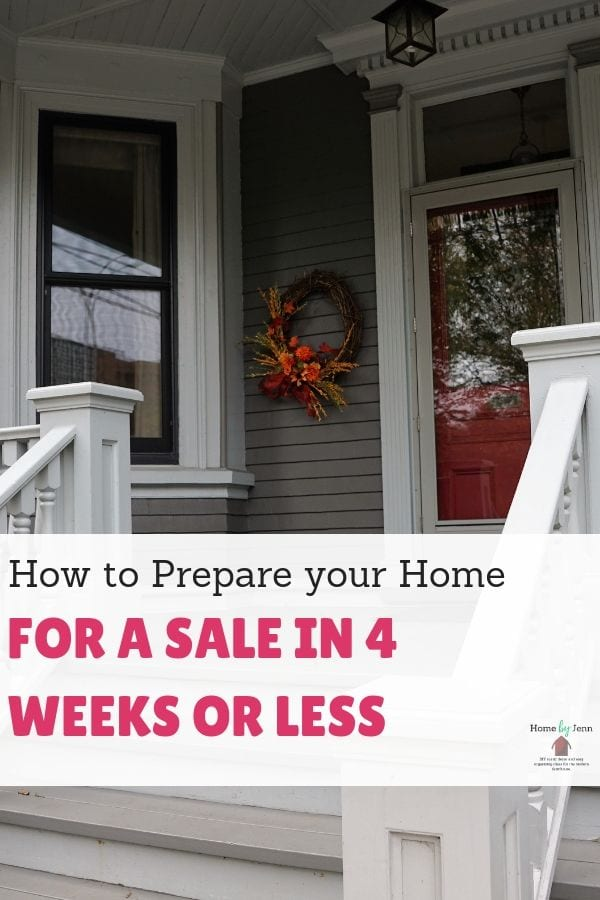 How to Prepare your Home for a Sale in 4 Weeks or Less via @homebyjenn