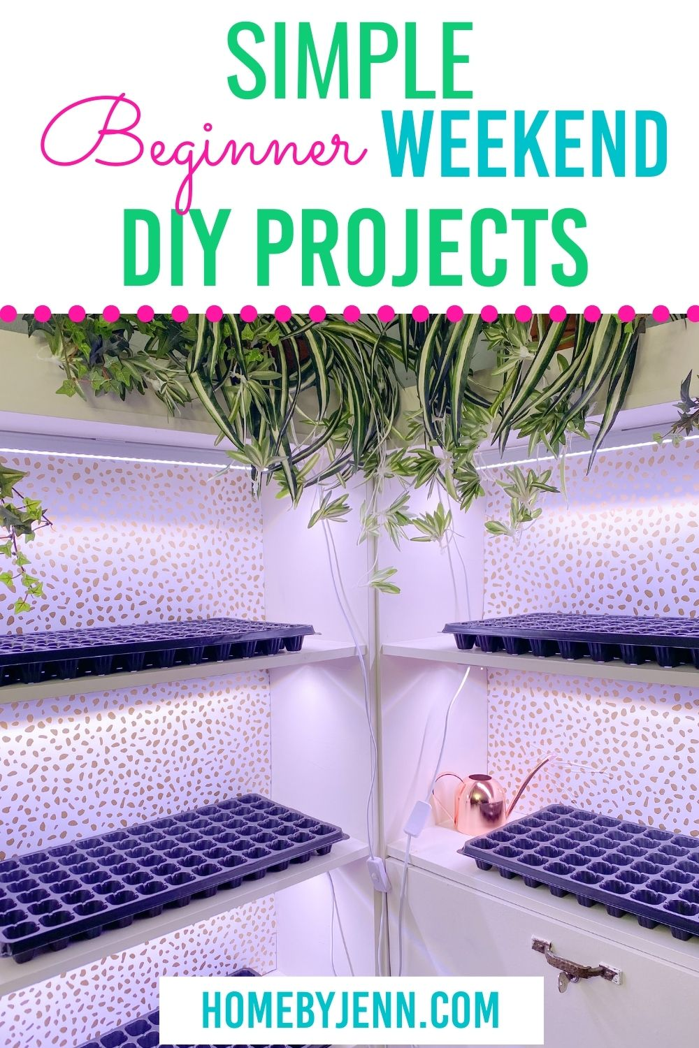 If you're wanting to update your home, build something new but don't have the time, you're in luck I'm sharing some simple Weekend DIY Projects. These all are beginner projects that take less than a weekend to put together. Only a few common supplies are needed for these Easy Weekend DIY Projects. via @homebyjenn