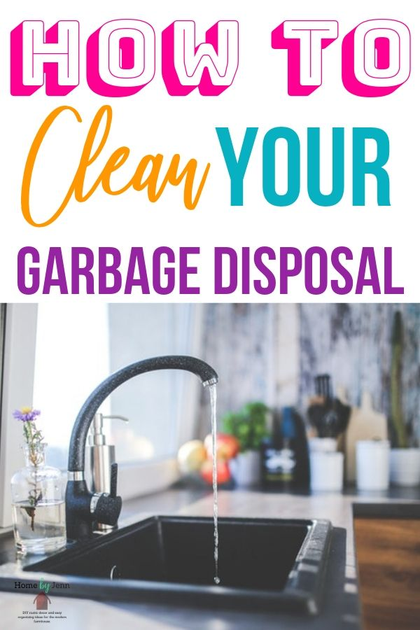 Learn how to clean your garbage disposal by following this simple cleaning tips. #cleaningtips #cleaningtipsandtrick #cleaninghacks #garbagedisposal #howtocleanagarbagedisposal via @homebyjenn
