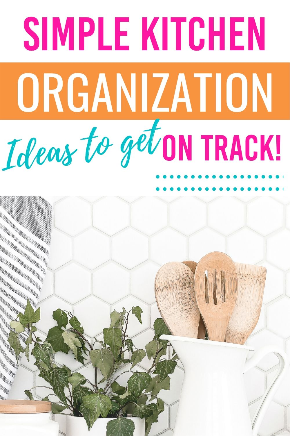 If you're looking for great kitchen organization ideas to tackle that area of your home, these organizing hacks and tips will keep your kitchen organized. #organizingtips #organizinghacks #organizingtipsandtricks #kitchen #cleankitchen #kitchenorganizingideas via @homebyjenn