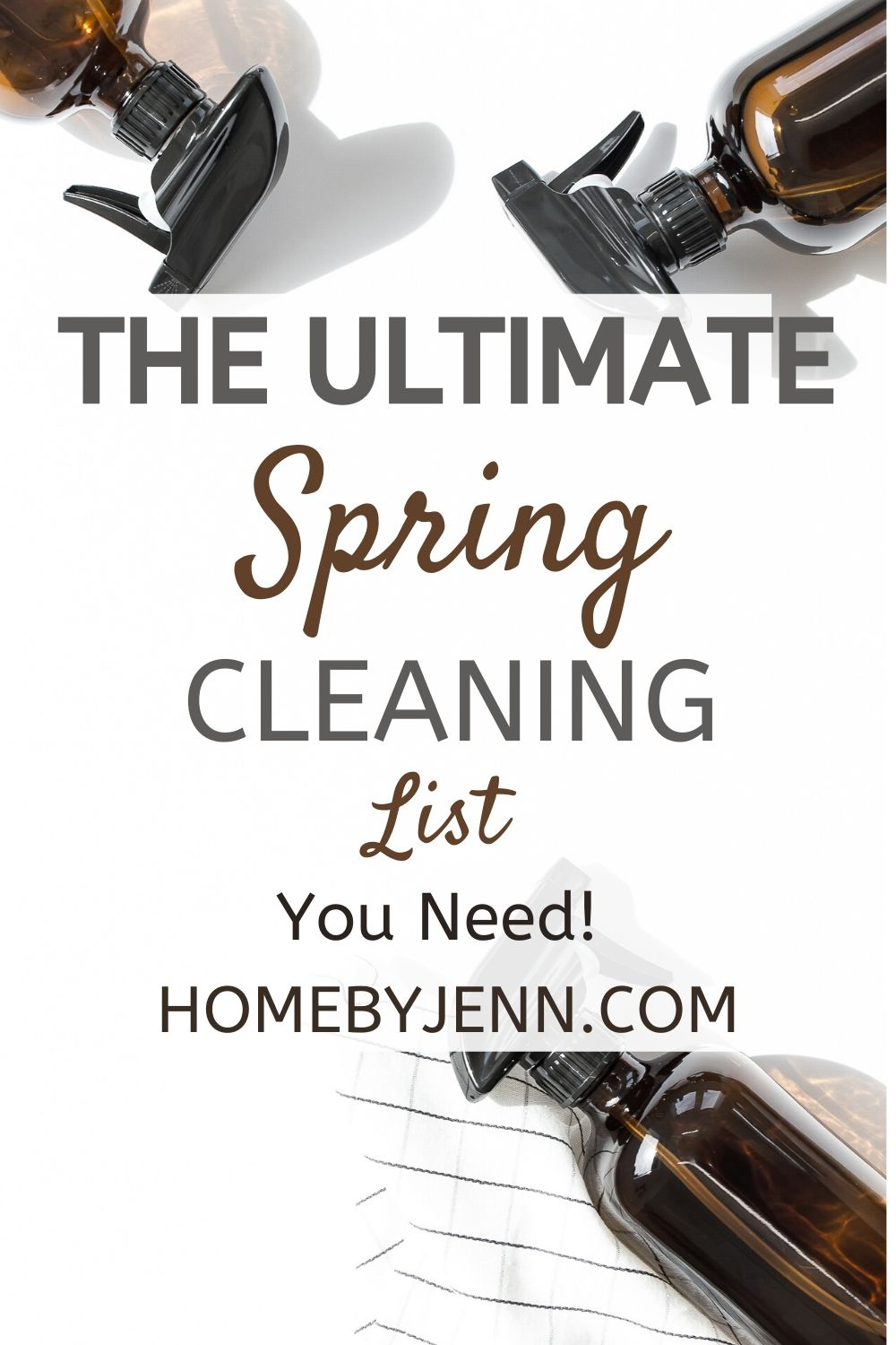Get ahead of the spring cleaning with the ultimate spring cleaning list. Grab the free spring cleaning checklist too to help you get your house clean this spring. #springcleaning #cleaningtips #cleaninghacks #springcleaningtipsandtricks #cleaningtipsandtricks #springcleaninghacks #springcleaningtips via @homebyjenn