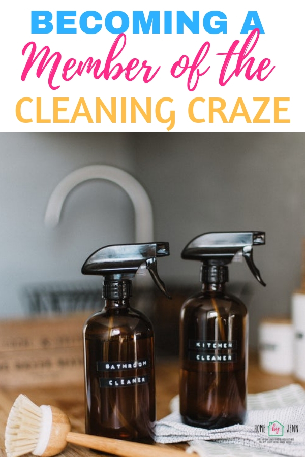 Becoming A Member Of The Cleaning Craze via @homebyjenn