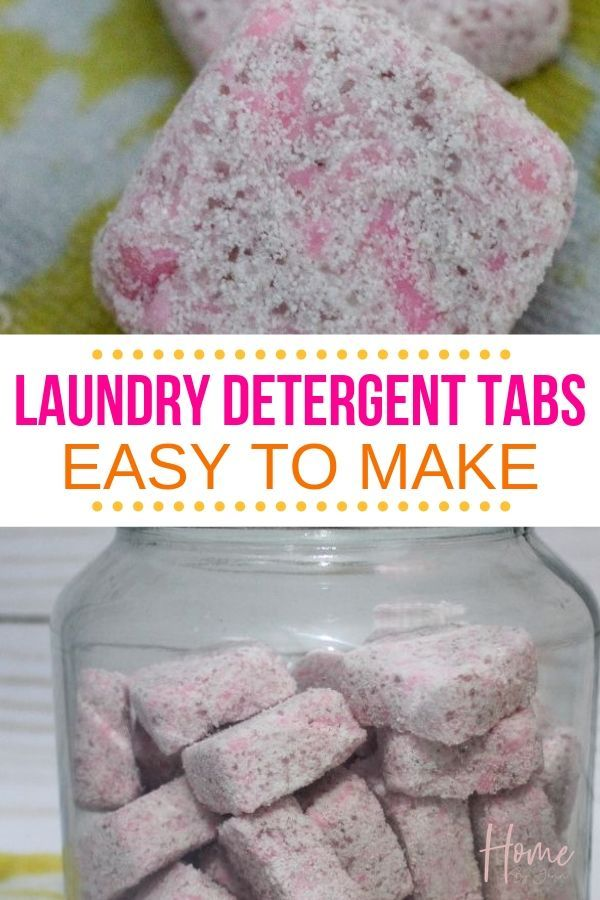 Making your own laundry detergent tabs is so simple, and is a great way to save money as well! With just a few simple ingredients, you'll have your own homemade laundry detergent in no time at all! #laundrydetergenttabs #laundryhacks #laundry #homemade #DIY via @homebyjenn