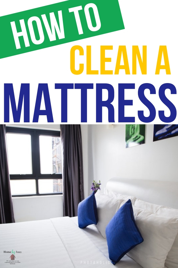 Extend the life of your mattress and remove all of the allergens by cleaning your mattress. This post will show you how to clean your mattress #clean #cleanhome #howtocleanamattress #cleanmattress