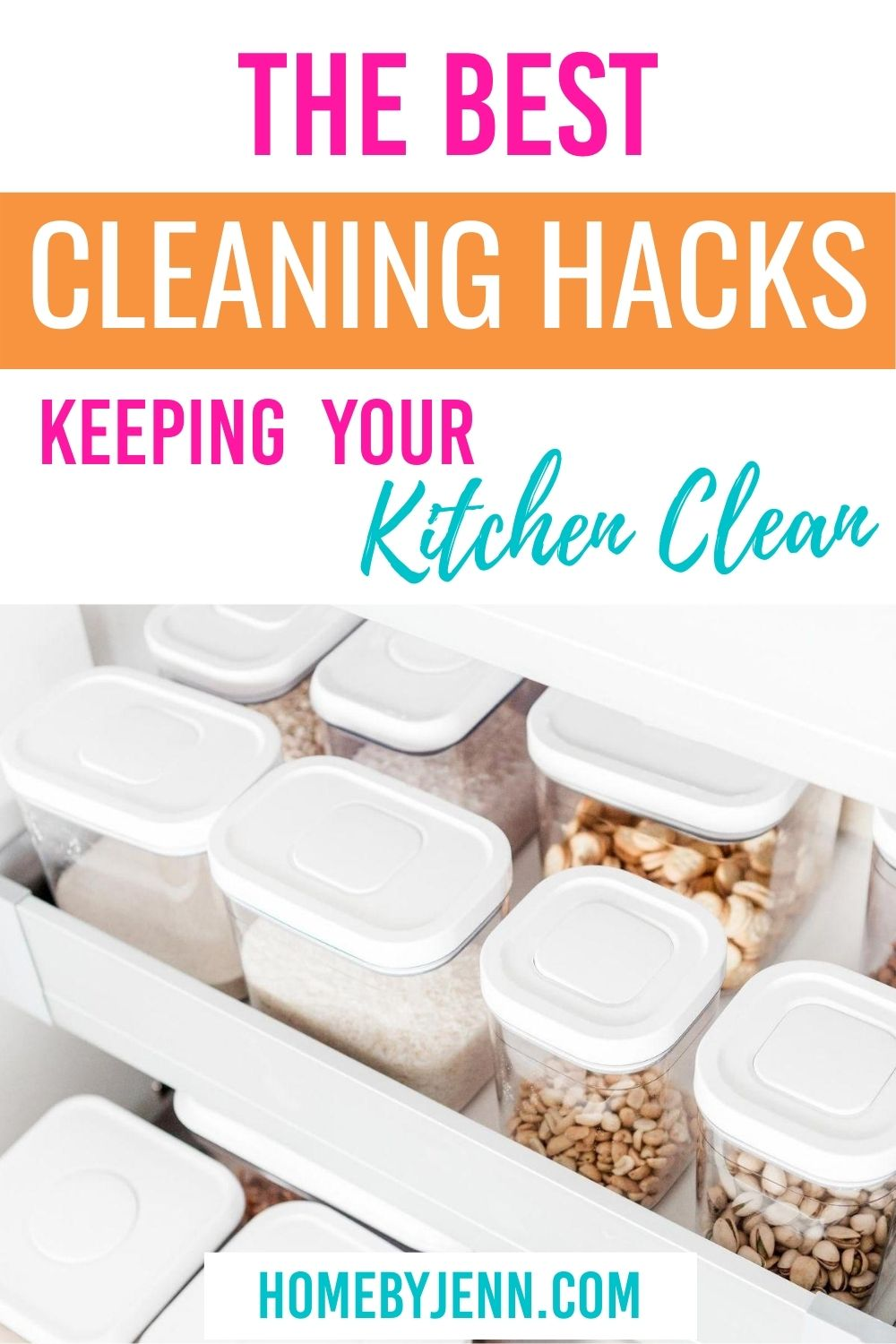Here's the best cleaning hacks to keep your kitchen clean. These cleaning tips are simple to use. #cleaning #cleaningtips #cleaninghacks #cleaningtipsandtricks #cleankitchen via @homebyjenn