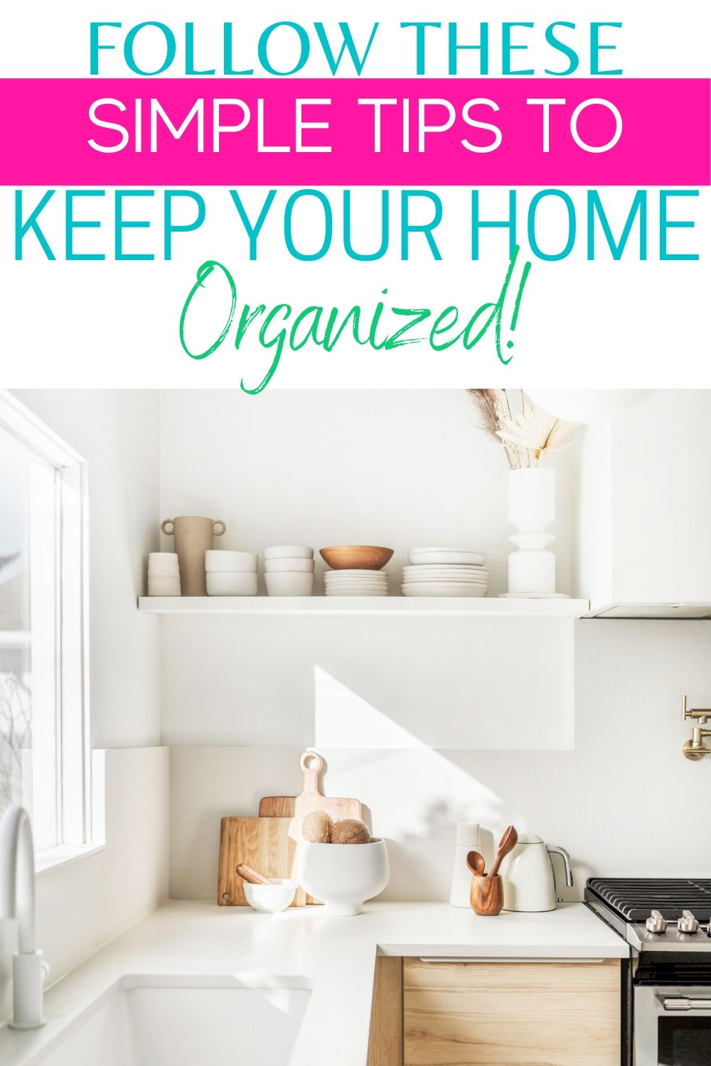 Keep your entire home organized by following these simple organizing tips. These home organizing hacks will keep your home clean and organized. #organizedhome #organizedtips #organizinghacks #organizingtipsandtricks via @homebyjenn