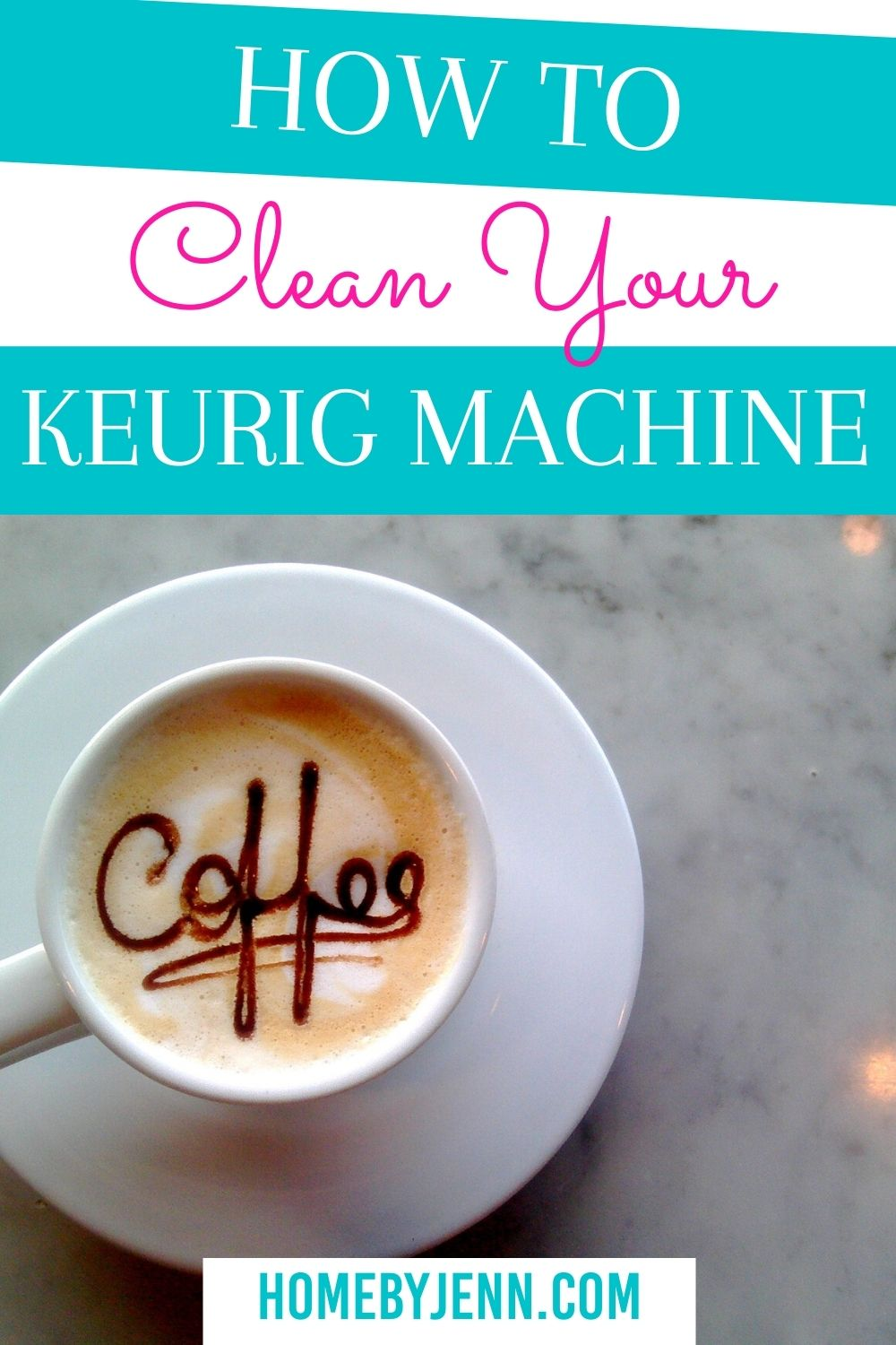 Keep your coffee tasting fresh by cleaning your keurig. Learn how to clean your keurig machine with these simple cleaning tips #keurig #cleankeurig #coffeemachine via @homebyjenn