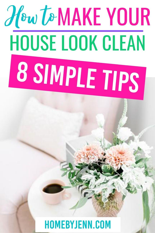 how to make your house look clean via @homebyjenn