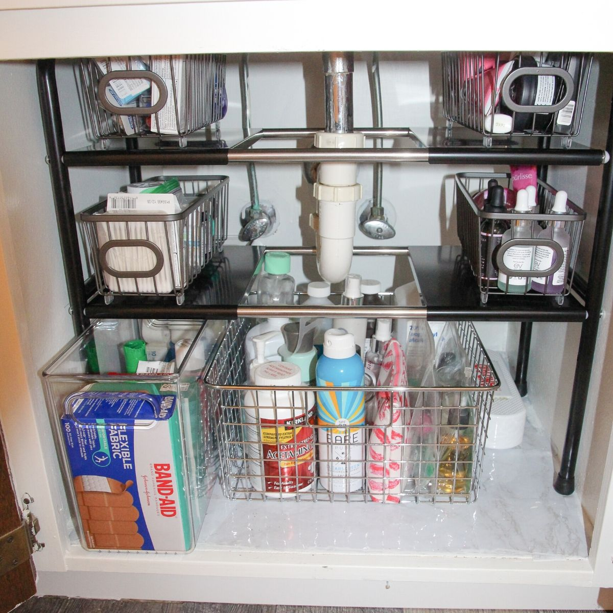 How To Organize Under The Bathroom Sink Home By Jenn