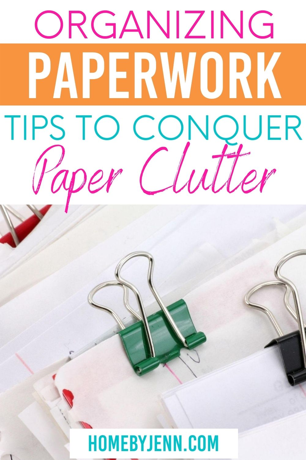 Organizing paperwork and your bills at home is something you can totally do with these simple tips.Learn how toorganize paperwork at home. #paperclutter #organizingpaper #howtoorganizepaperwork #organizepaperclutter via @homebyjenn