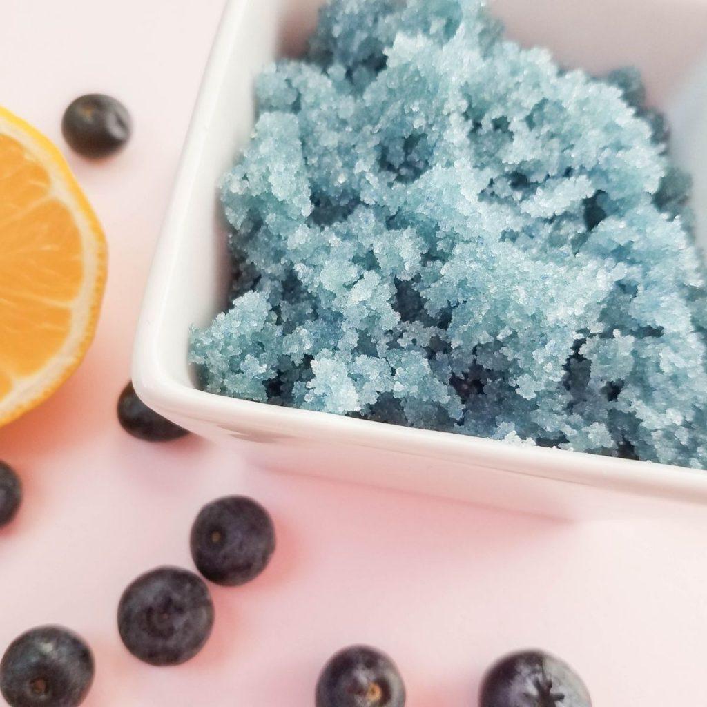 homemade sugar scrub in a bowl ready to use