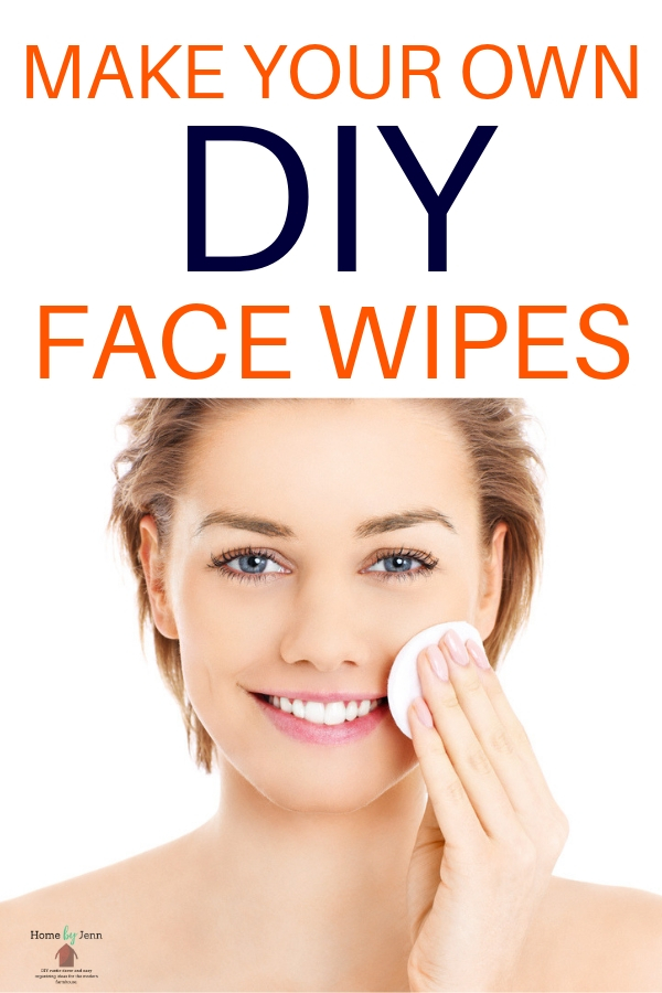 These DIY face wipes are so simple to make.  Homemade face wipes help you clean your face naturally. #facewipes #natural #beauty #homemade  via @homebyjenn