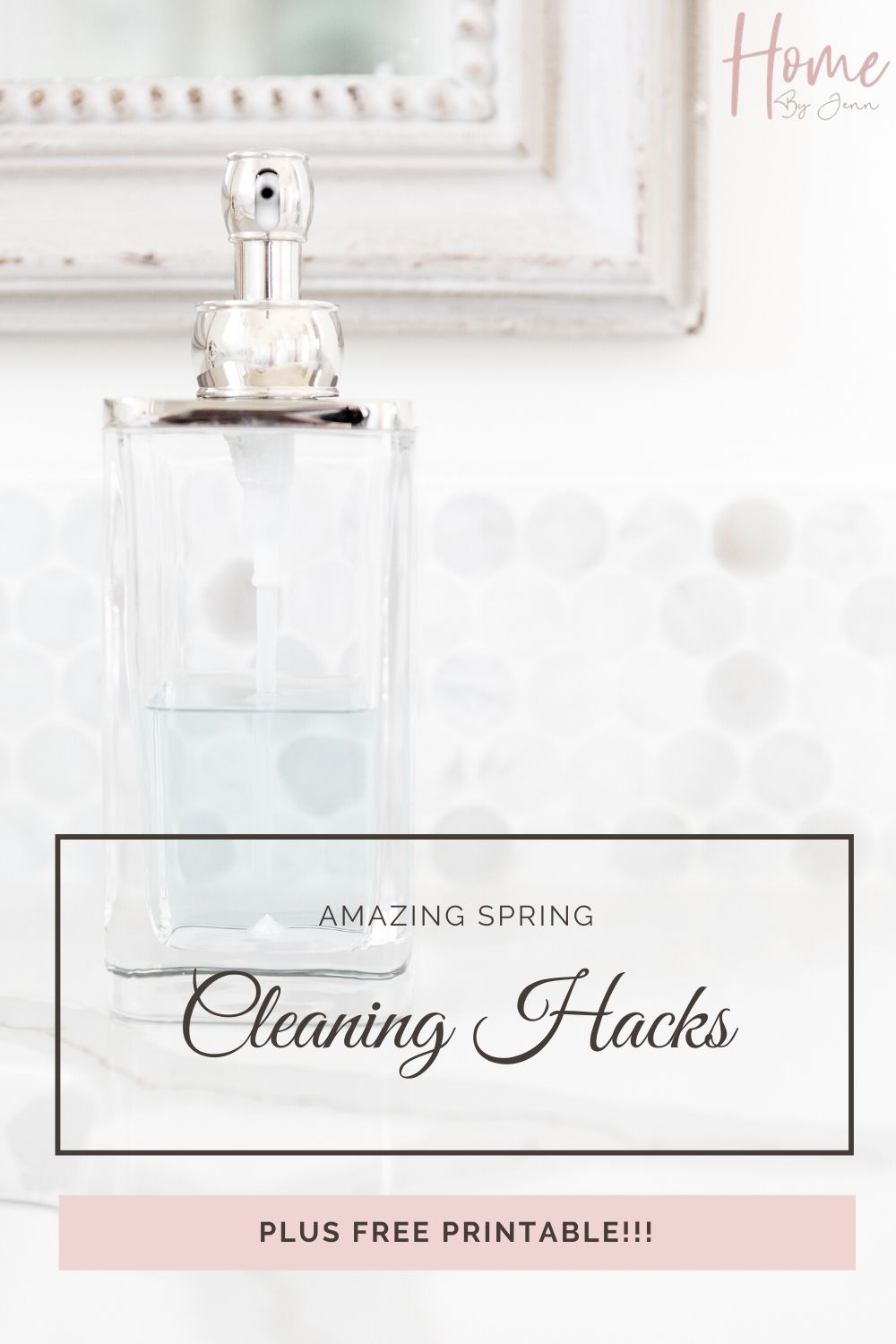 Use these spring cleaning hacks to help you get through the spring cleaning this year. You'll be surprised how simple it is when you use these cleaning hacks. Free spring cleaning printable to help you too!