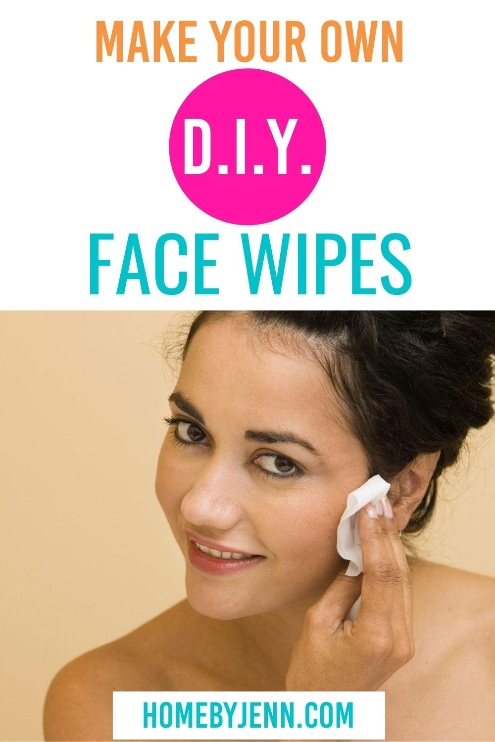 These DIY face wipes are so simple to make in no time. Gain control of the chemicals you use with these homemade face wipes. They'll help you clean your face naturally. #facewipes #natural #beauty #homemade via @homebyjenn